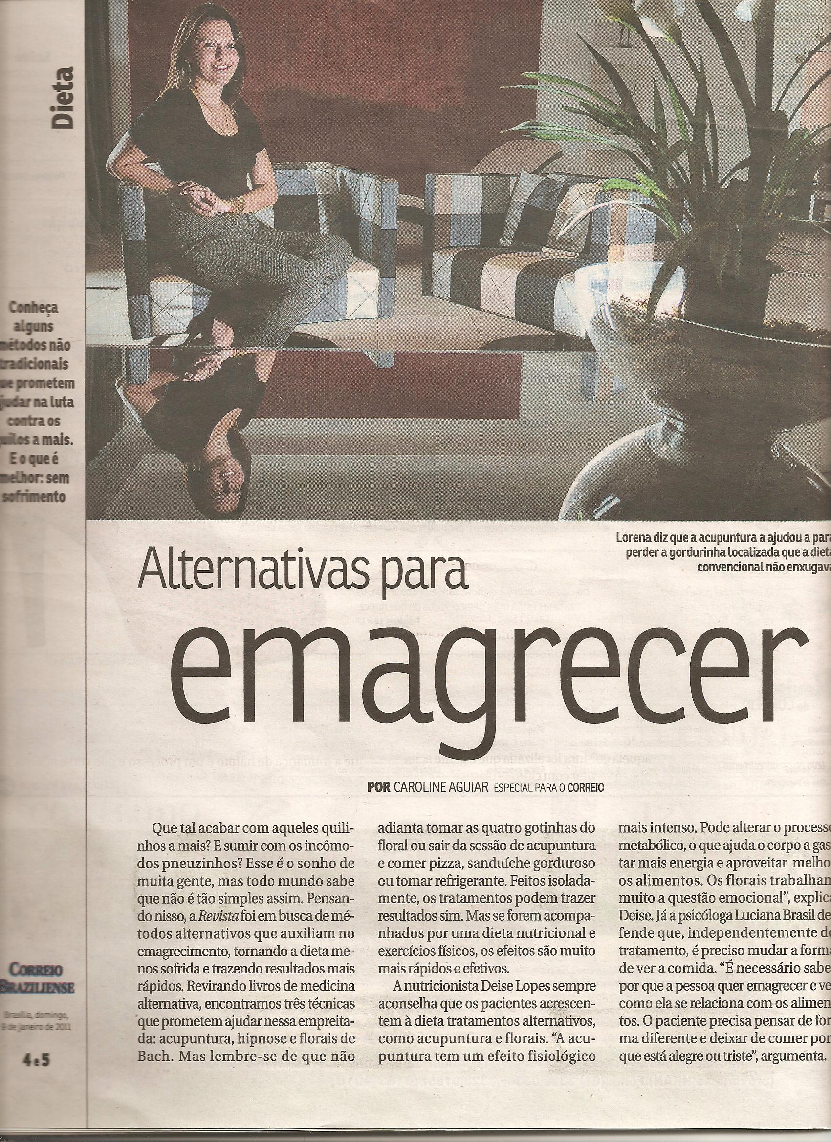 Hipnoticus - Henrique de Azevêdo no Correio Braziliense 001 - 31/12/2010 - Hipnose no Emagrecimento